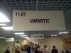 Le panneau du stand Jammette...